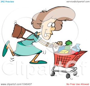 Royalty-Free-RF-Clip-Art-Illustration-Of-A-Cartoon-Grocery-Shopping-Woman-10241046437
