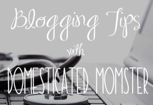 blogging tips domesticated momster