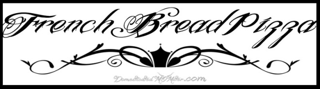 French Bread Pizza Logo Image