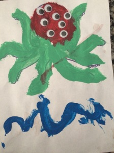 Monster B Man's idea that the octopus had to have as many eyes as it does tentacles