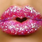Lips Sparkly Pink Plump Domesticated Momster