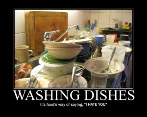 hate washing dishes