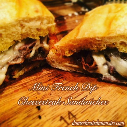 French Dip Cheesesteak Sandwiches #eatingonabudget #budgetmeals