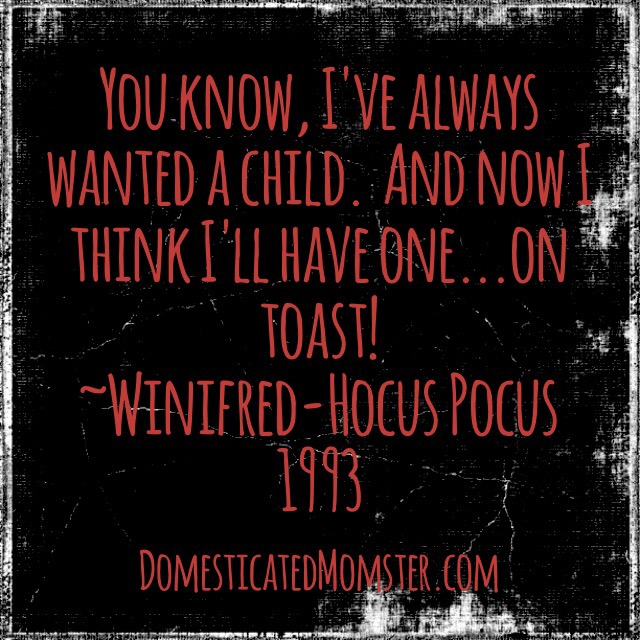 13 Days Of Halloween Day 7~ – Domesticated Momster