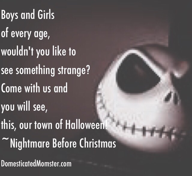 13 days of halloween, quotes, nightmare before christmas, jack skellington, scary, halloween,