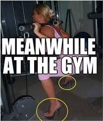 people at the gym, workouts,