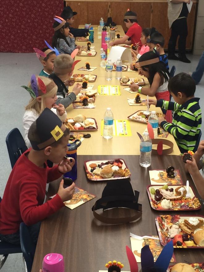 kindergarden feast Thanksgiving2015 turkey food yummy
