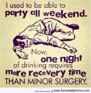 drinking partying hangovers aging