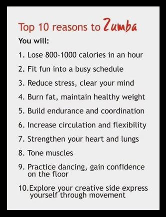 Zumba calories fat endurance muscles fitness