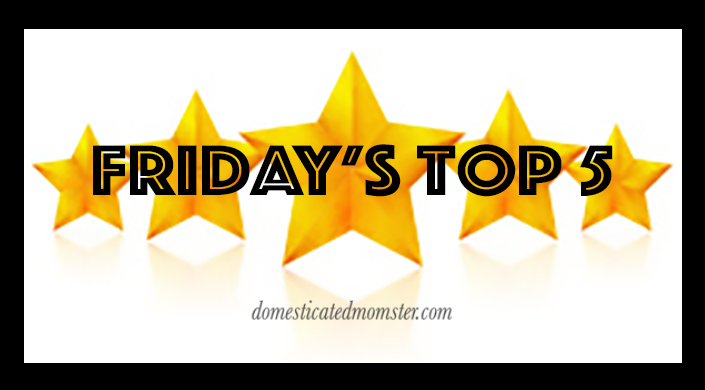 Friday's Top 5 ~ Jan 15,2016