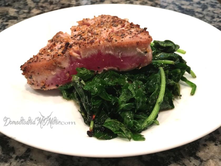 seared tuna spinach kale power greens yummy healthy food
