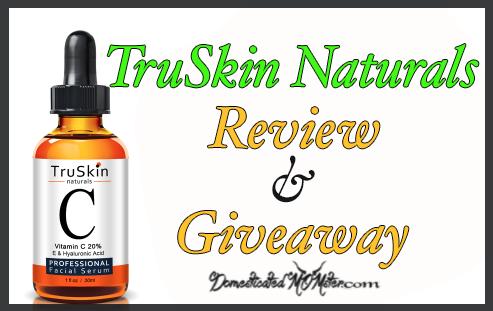 TruSkin Naturals Vitamin C Serum giveaway