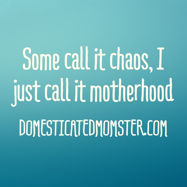chaos motherhood quotes domesticated momster