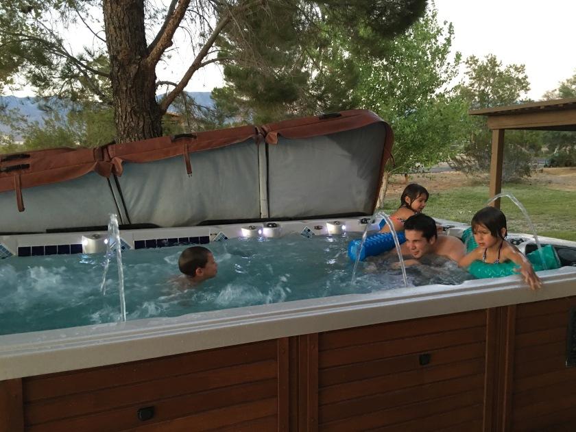 summer grandpas house swim spa
