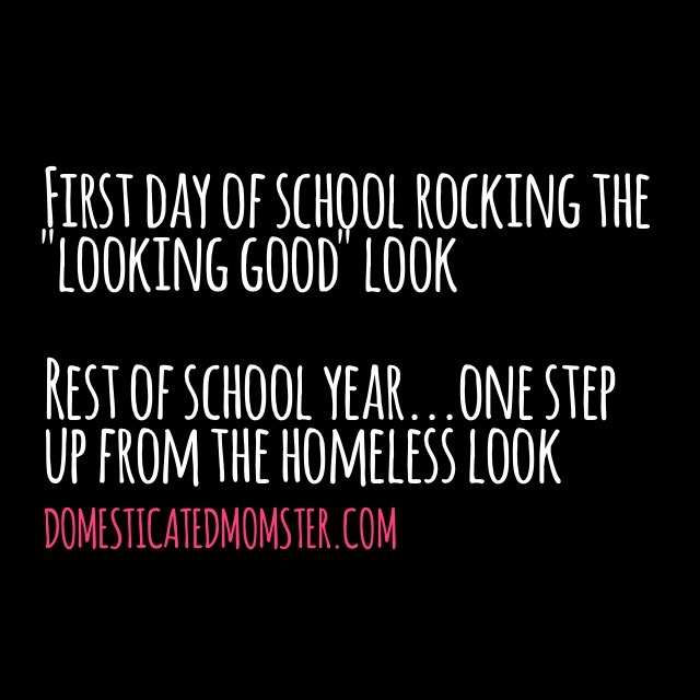 back to school first day