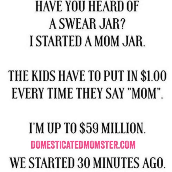 momlife swear jar humor