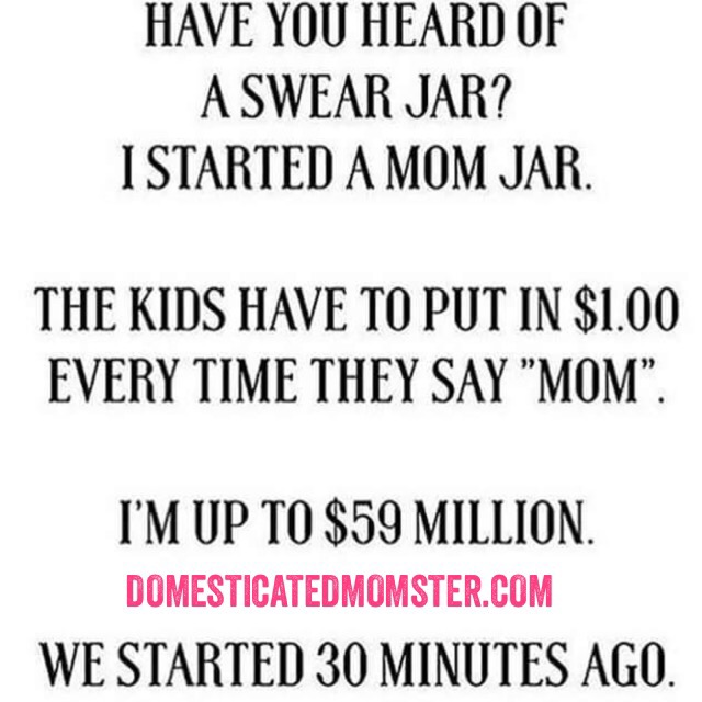momlife swear jar humor