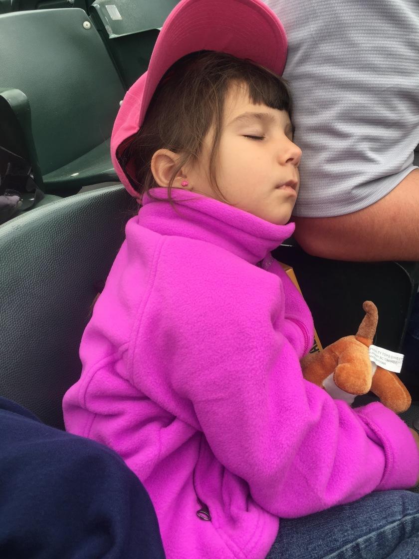 sleepy girl sick tired
