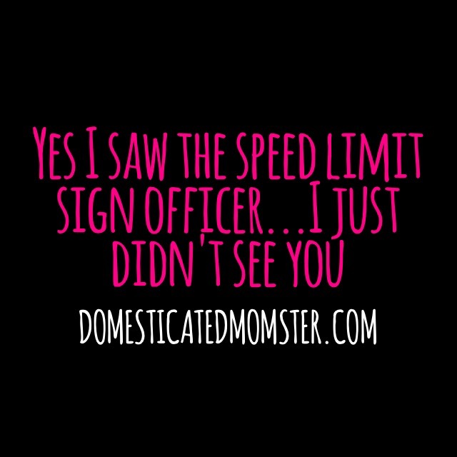 speeding quote humor funny