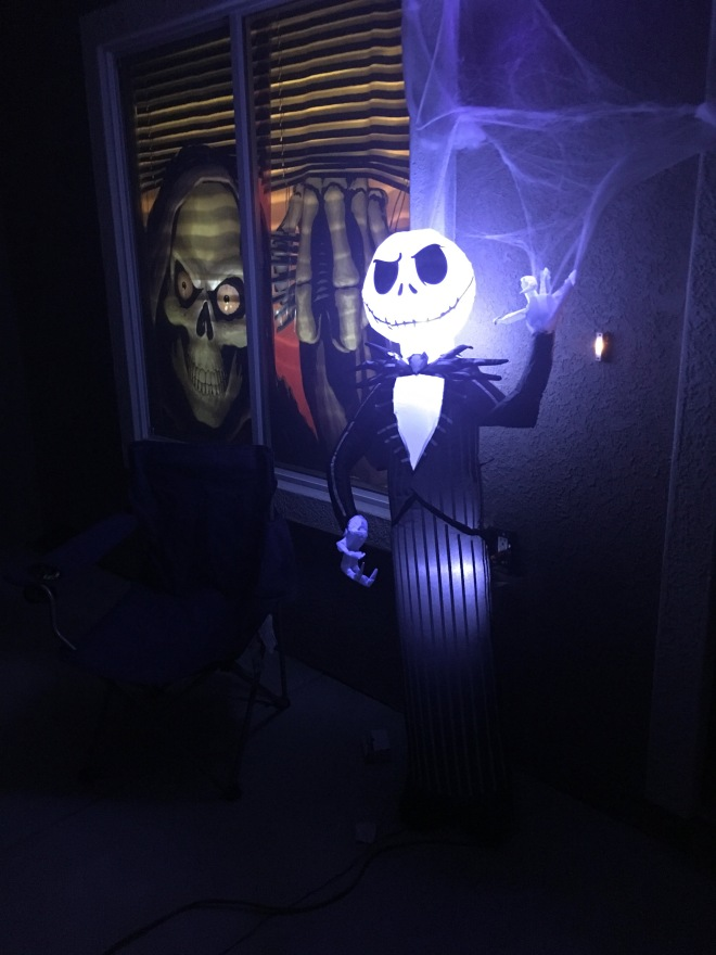 Jack Skellington inflatable halloween decoration