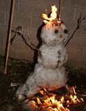 National Burning Snowman Day humor