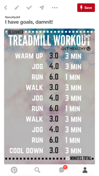 treadmill workout beginners